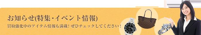 お知らせ(特集・イベント情報)