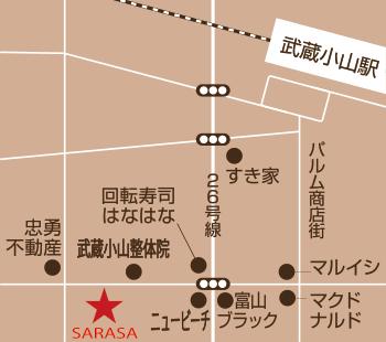 武蔵小山駅からのアクセスです