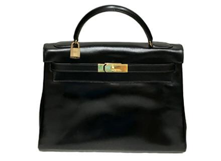 エルメス・ケリー32・内縫い・黒・P刻印